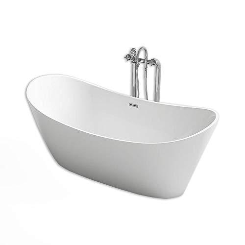Home Deluxe - freistehende Design Badewanne - Ovalo - Maße: ca. 170 x 80 x 72 cm - Füllmengen: 204 Liter - inkl. komplettem Zubehör (Freistehend Badewanne)