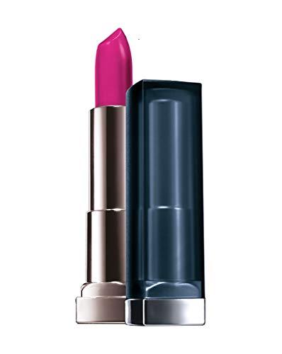 Maybelline New York Make-Up Lippenstift Color Sensational Creamy Mattes Lipstick Magnetic Magenta / Knalliges Pink mit mattierendem Finish, 1 x 5 g
