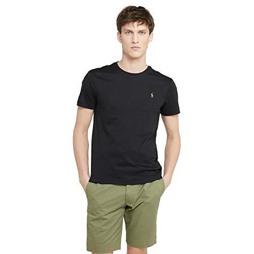 Ralph Lauren T-Shirt Interlook Custom Fit (L, Polo Black) (Lauren Ralph Polos)