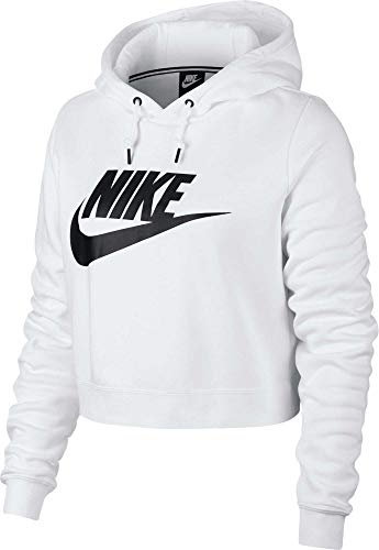 Nike Damen Rally Hoodie Crop Top - Weiß - XX-Large (Nike Sweatshirt Weiß Damen)