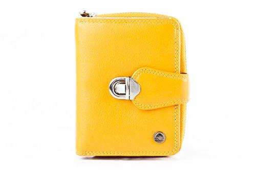 Greenburry Spongy - Portafoglio in pelle, 9 cm giallo