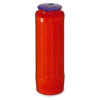 Aeterna: Ewiglicht Ölkerze Nr. 9 / 10 aus 100 % reinem Pflanzenöl (20 Stück) - in rot oder weiß - Grabkerzen mit 9 Tagen Brenndauer! (Rot)