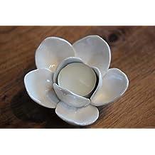 Teelicht  Ø 12x9 cm Porzellan weiß