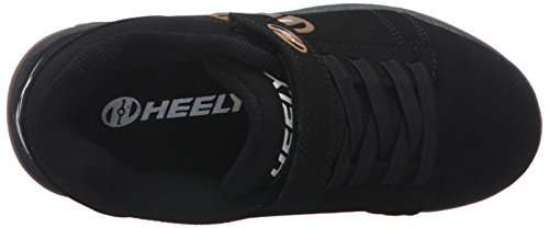 Heelys X2 Dual Up, Chaussures Deux Roues Garçon Noir (Black / Gum)