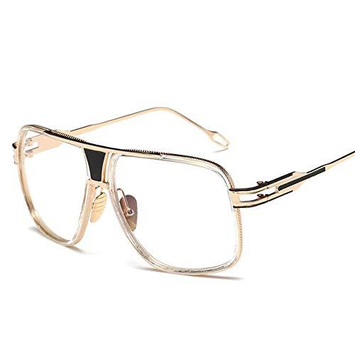 HUILIN Sonnenbrille Herren Markendesigner Sonnenbrille Driving, 11 Gold transparent