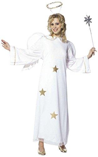 Widmann 35113 - Erwachsenenkostüm Sternenengel, Kleid mit Flügel und Heiligenschein, Größe L