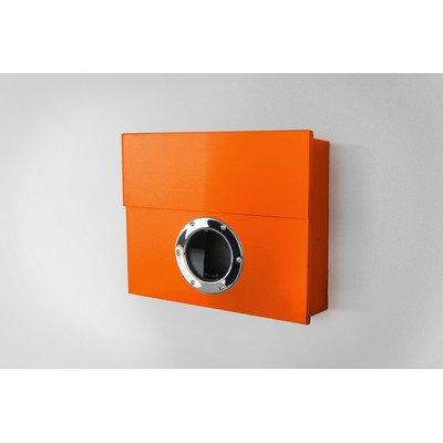 Radius Letterman XXL Orange Briefkasten mit verdecktem Zeitungsfach - 550 a