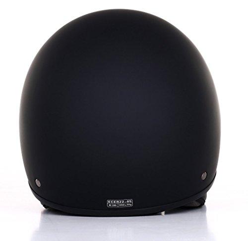 Römer Helmets Motorradhelm Custom, Matt Schwarz, Größe L - 2