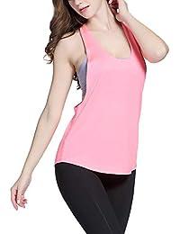 Exerin - Chaleco con Sujetador Deportivo para Mujer Plasticidad para Yoga Correr Deporte