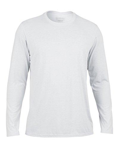 Gildan Performance T-Shirt mit langen Ärmeln, GD121 Weiß - Weiß
