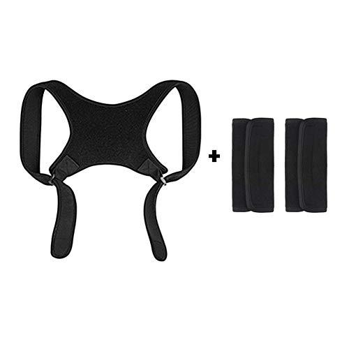 Rubyu Körperhaltung Korrektor für Frau/Männer Rücken Verstellbar Unter Kleidung Stützstrebe Stützgürtel Nacken Schlüsselbein Rückenmark Physiotherapie Schmerzlinderung