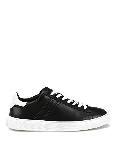 Hogan Sneaker H365 Nere in Pelle HXM3650J960KFN0002 Nero Uomo 10