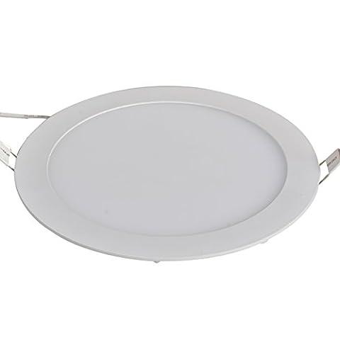 XYD® 3W-24W LED runder Einbau Deckenplatte Down Light Ultra-schlank Down Lampe für Esszimmer, Wohnzimmer, Korridor, Konferenzraum und Büro Leicht Energie sparen Warmweiß (2800-3204K) MBD00004