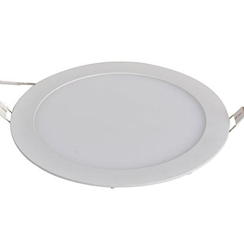 XYD® 3W-24W LED rotonda da incasso pannello di soffitto Giù luce ultra-sottile Giù Lampada per sala da pranzo, Soggiorno, Corridoio, sala conferenze e uffici leggera risparmio energetico Natura bianco (4000-4300K) MBD00004