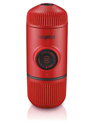 Wacaco Nanopresso Tragbare Espressomaschine, Upgrade-Version von Minipresso, 18 Bar Druck, Rot Patrouillieren, kleine Reisekaffeemaschine, manuell betrieben, zum zelten und wandern