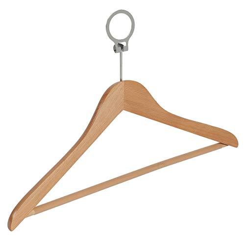 10 x grucce in legno per camicia / mantello (anti-furto) con barra pantaloni (antiscivolo), 43 cm - il gigante del lappendiabito