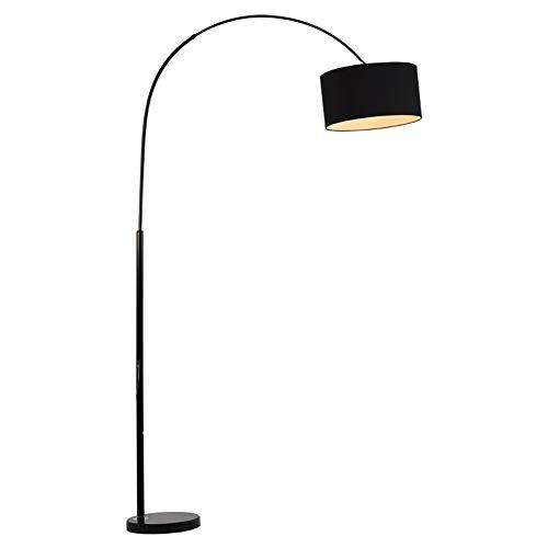 Stehlampe Höhenverstellbare Wohnzimmer-Stehlampe, Schwarz, In-Line-EIN/Aus-Schalter - Fashion Home Dekoration Licht (Farbe : Schwarz, Größe : 26 * 26 * 155cm) -