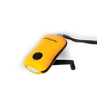 AceCamp Outdoor Dynamo Taschenlampe ohne Batterie mit 3 LED`s zum Kurbeln - ideale für Camping, Survival, Angeln und als Notlampe, 1031