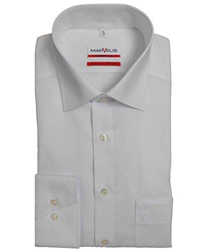 MarVelis-Hemd Modern Fit weiss bügelfrei 100 % Baumwolle, Farbe Weiß, Größe EU 40