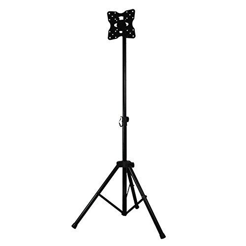 "DQ Tripod TV Standmodell Schwarz - Empfohlene TV-Größe: 24"" - 40"" - VESA 75x75 100x100 200x100 200x200 mm"