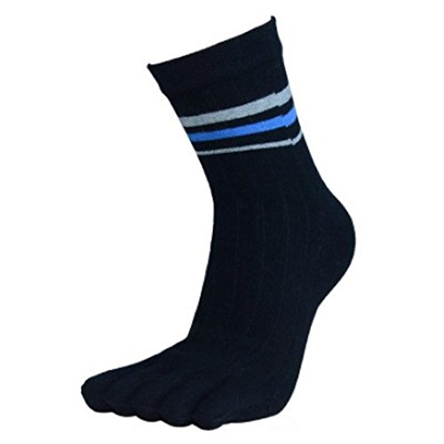 Socken herren Kolylong Baumwolle Sport Socken Five Finger Schwarz (Babys Warm-up-hose)