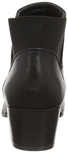 Spot On  F50230, Ankle boots sans doublure femme Noir - Black (Black Pu)