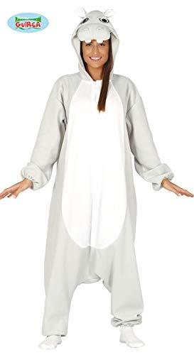 Generique - Lustiges Nilpferd Kostüm für Erwachsene Hippo grau-Weiss (Hippo Kostüm)