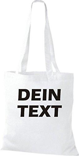 Shirtstown Stoffbeutel mit deinem Wunschtext versehen viele Farben Weiß