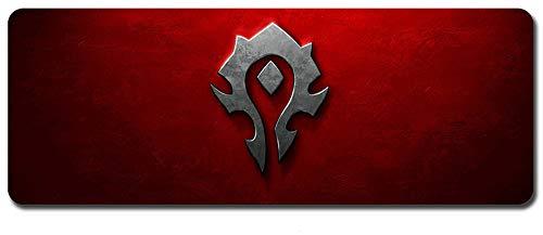 Mauspad,World of Warcraft Wow Mauspad,Professionelle Gaming Mouse pad, Computer - Tisch - Pad, Schreibtisch - Pad, Die Dicken Gummi - Anti - rutsch (900 x 400 x 3 mm / 35.5 x 15.5 x 0.12 inch, 2) - 2 Speed Schreibtisch