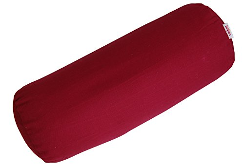 beties Farbenspiel Nackenrollen Bezug ca. 15x40 cm in interessanter Größen- und Farbauswahl 100% Baumwolle für eine fröhlich Stimmung Uni Farbe (karmin-rot)