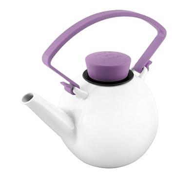 QDO Théière en porcelaine avec poignée à clips Violet
