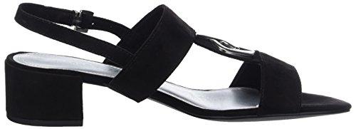 Marco Tozzi 28200 Damen Slingback Sandalen mit Blockabsatz Schwarz (Black 001)