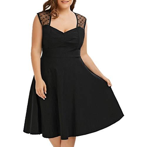 Supply Ladies Large Size Kleid mit V-Ausschnitt Sexy Polka Dot Mesh Slim Kleid Frauen Spitze Frauen Kleider Elegant Kleid A Linie Kurz Kleider FüR Kleid Damen Kurzarm Mode Kleid Drawstring-gaze Hosen
