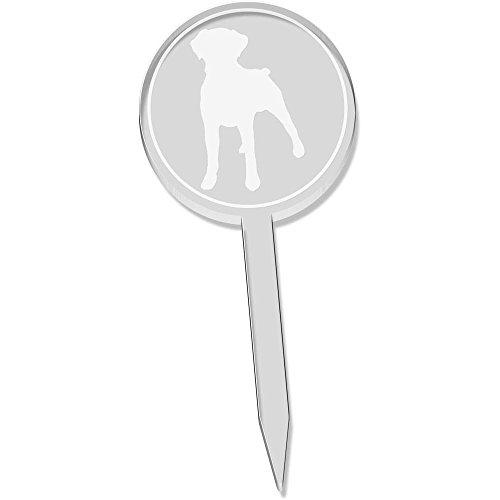 Azeeda 6 x 'Boxer Hund Silhouette' Klar Cupcake Picks / Kuchen Toppers (CT00012894) (Boxer Hund Silhouette)