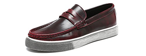 venustus-mens-leather-loafers-flats-classic-slip-on-fashion-casual-boat-shoes-size-9-uk-red