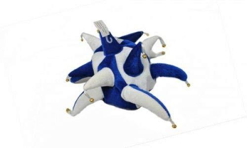 Flagmania® Königsblau und Weiß Supporters Jester Hut - Kostüm + 59 mm Button (Jester Kostüm Bilder)