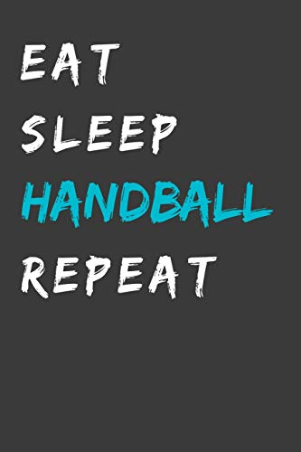 HANDBALL: A5 Dodgrid I Agenda Journal I A5 gebunden I 120 Seiten I Softcover I matt I Geschenk Handballerin Handballer