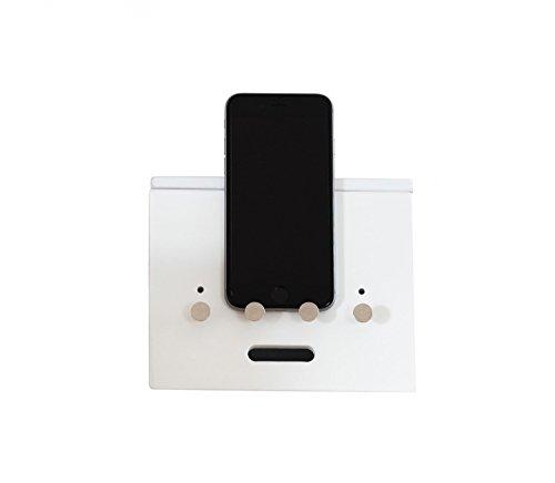 Ladeorganizer Ladestation Ständer Organizer Kabelorganizer CAJA weiß für Smartphone Handy eBook Reader Tablet MP3 Player
