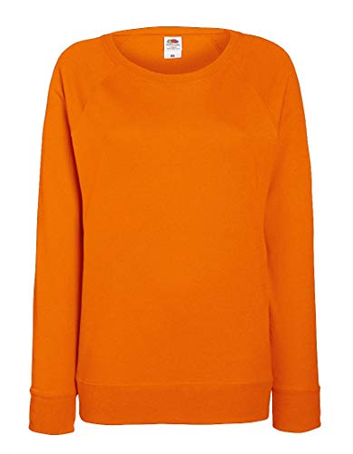 2Store24 Lady-Fit Lightweight Raglan Sweat in Orange Größe: XXL Orange Womens Raglan Hoodie