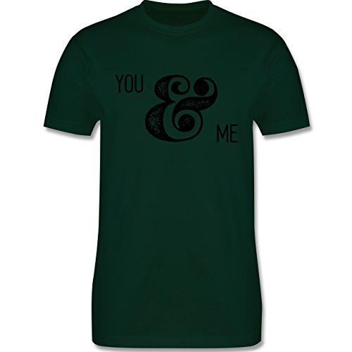 Valentinstag - You & Me Typo - Herren Premium T-Shirt Dunkelgrün