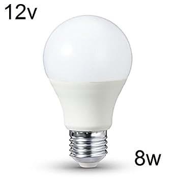 8w dc 12 volt 12v e27 led birne 8w warmwei gl hbirne leuchtmittel beleuchtung. Black Bedroom Furniture Sets. Home Design Ideas