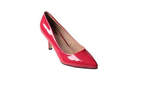 AalarDom Femme Habit de Cérémonie vernis Pointu Brillant Chaussures Légeres Rouge