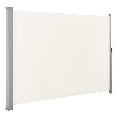 ArtLife Seitenmarkise Dubai 300 x 180 cm (B x H) in beige Sichtschutz Windschutz Sonnenschutz