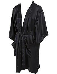 SUPERIOR NATURALS, Kimono, 100% Seide, Schwarz