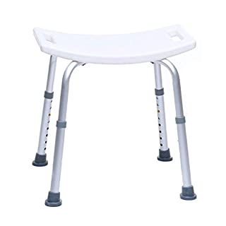 Shower Stool - Bathroom Seat, Height Adjustable, Antiskid, Stable, Max. User Weight 150 Kg
