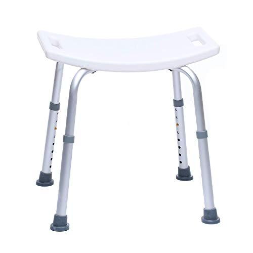Duschhocker - Duschsitz - Duschhilfe - Badewannenhocker - Badhocker Kunststoff - Höhenverstellbar, Rutschfest, Stabil, bis 150 kg