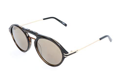Montblanc Unisex-Erwachsene Mont Blanc Sonnenbrille, Brown, 52