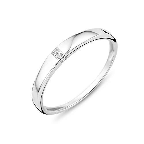 Miore - Anillo mujer oro blanco 9 quilates 375 diamante