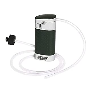 aokur Portable Water Filter Pump 99.9999% Removes Bacteria, Outdoor Water Purifier Pump with Ceramic Membranes Cartridge for Emergency or Camping Survival Gear, Matte Army Green