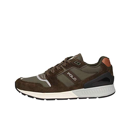 Ralph Lauren Uomo Deep Olive Train 100 Sneaker-UK 6